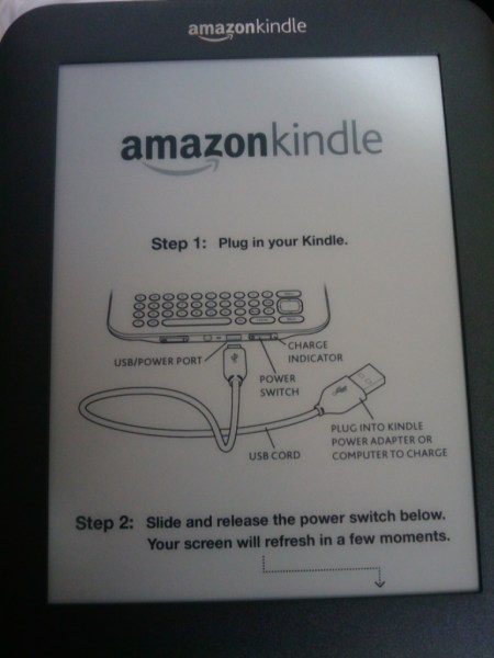 Kindle 3 screen