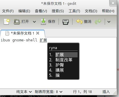 ibus GNOME Shell 扩展:候选词